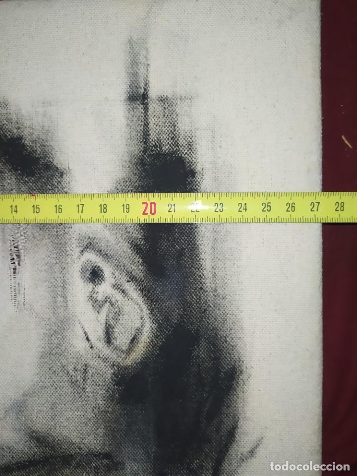 Arte: DIBUJO SOBRE LIENZO CHICO GUAPO HOMBRE ATRACTIVO SIN FIRMA RESTAURAR RASGADO AGRADECE INFORMACIÓ - Foto 6 - 289604893