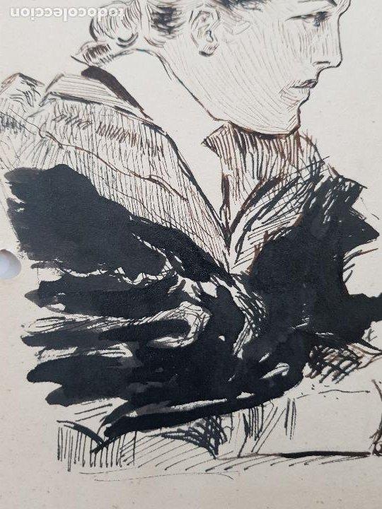 Arte: MUJER DE EPOCA FIRMADO SUAREZ 1940 - Foto 4 - 289605103