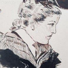Arte: MUJER DE EPOCA FIRMADO SUAREZ 1940. Lote 289605103