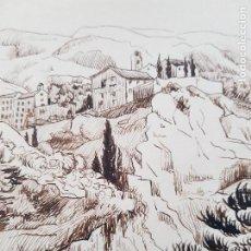 Arte: PUEBLO DE MONTAÑA FIRMADO SUAREZ. Lote 289605338