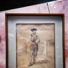 Arte: MAJO. DIBUJO COLOREADO. JOSE DOMINGUEZ BEQUER. SIGLO XIX. Lote 289814173