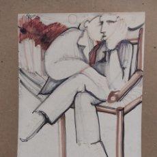 Arte: GASCÓN, DIBUJO 31X22CM. Lote 289916378