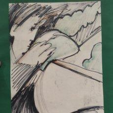 Arte: GASCÓN, DIBUJO 31X22CM. Lote 289916448