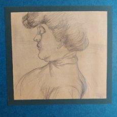 """Arte: J. PASSAS"""" APUNTE ROSTRO DAMA"""" 1914. Lote 290081443"""