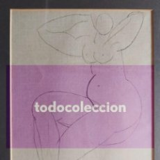 Arte: 'DESNUDO FEMENINO', DIBUJO A LÁPIZ DE JOSÉ MARÍA DE LABRA (1925-1994), DE 22 X 16 CM. FIRMADO.. Lote 290082648