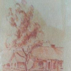 Arte: DIBUJO A LA SANGUINA FIRMADO POR EL AUTOR EN 1947.. Lote 290635718