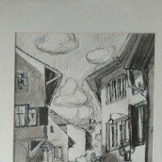 Arte: DIBUJO EXPRESIONISTA DE A LOTTAS 1966 A TINTA CHINA.. Lote 290637133