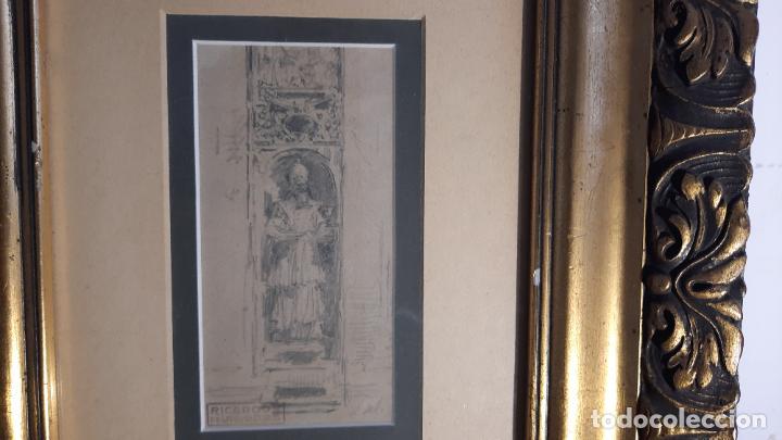 Arte: magnifico dibujo de Ricardo de Villodas y de la torre ,firmado y con cuño - Foto 2 - 291224928