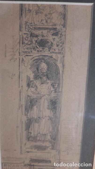 Arte: magnifico dibujo de Ricardo de Villodas y de la torre ,firmado y con cuño - Foto 3 - 291224928
