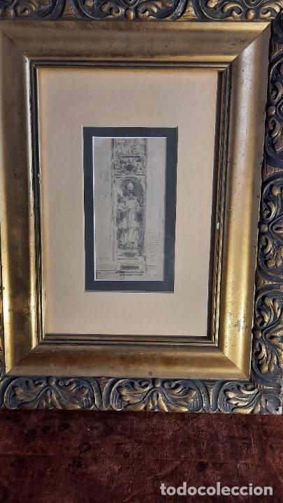 Arte: magnifico dibujo de Ricardo de Villodas y de la torre ,firmado y con cuño - Foto 4 - 291224928