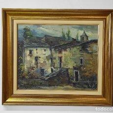 Arte: ELÍAS GARRALDA ALZUGARAY (LESAKA 1926- OLOT 2012) - ÓLEO SOBRE TELA - PAISAJE. Lote 291239988