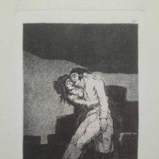 Arte: GOYA,LOS CAPRICHOS N.10 EL AMOR Y LA MUERTE ,AGUAFUERTE ORIGINAL DIRECTO DE PLANCHA CON CERTIFICADO. Lote 292540758