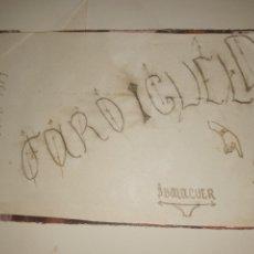 Arte: SALTO BAÑO DIBUJO FARO IGUELDO FIRMADO J. BALAGUER 1917. Lote 292545123