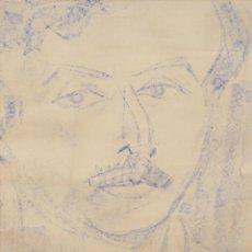 Arte: EVARIST VALLES I ROVIRA (1923 - 1999) TECNICA MIXTA SOBRE PAPEL FECHADO DEL AÑO 1957. RETRATO. Lote 293790168