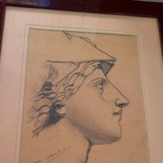 Arte: DIBUJO LAPIZ-CARBONCILLO ARTE REALISTA BARROCO FIRMADO MARIA MUÑOZ MORALES.. Lote 295447753