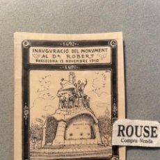 Arte: ANTIGUO DIBUJO ORIGINAL A TINTA PLUMA . INAGURACIÓ DEL MONUMENT AL DR. ROBERT BAR. Lote 295507528