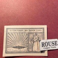Arte: ANTIGUO DIBUJO ORIGINAL A TINTA ( PLUMA ) III CENTENARI DEN RAMON LLULL JULIOL 1915. Lote 295712443