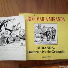 Arte: JOSÉ MARIA MIRANDA. VIÑETA ORIGINAL DIBUJADA Y FIRMADA Y LIBRO.. Lote 295793928
