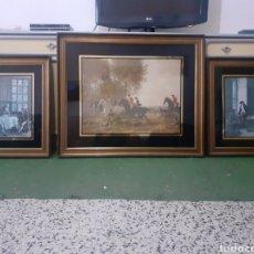 Arte: LOTE 3 CUADROS OBRA ORIGINAL DE FERNANDO BENITEZ { NANDO } ANTIGUEDAD 50 AÑOS, INGLES CLASICOS. Lote 295844228