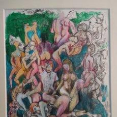 Arte: DIBUJO A COLOR SIGLO XX. Lote 295991343