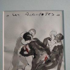 Arte: DIBUJO TINTA AGUADA FIRMADO SIGLO XX. Lote 295992448