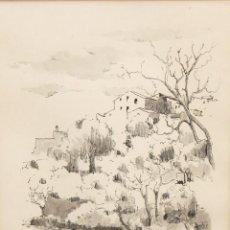 Arte: MARTI VERGOÑÓS FERRER (PALAFRUGELL, 1948 - ROSES, 2017) DIBUJO ACUARELADO. AÑO 1979. PAISAJE. Lote 296747083
