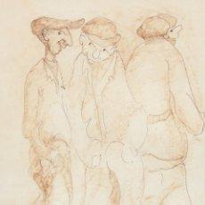 Arte: PERE PLANA PUIG (OLOT, 1927 - 2009) DIBUJO A TINTA Y ROTULADOR. PERSONAJES. Lote 296747468