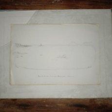 Arte: FARO DE ISLA DE ALCANADA BALEARES DIBUJO ORIGINAL DE 1901 FIRMADO. Lote 297163993