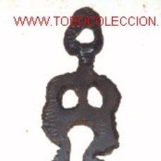 Arte: ESCULTURA DE HIERRO.FIGURA HUMANA.. Lote 23239830