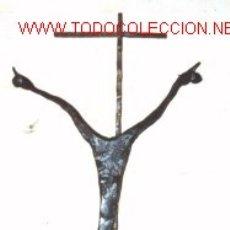 Arte: ESCULTURA DE HIERRO.CRISTO EN LA CRUZ.. Lote 23239832