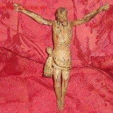 Arte: TALLA CRISTO CRUCIFICADO DEL SIGLO XVII EN MADERA.. Lote 17768482