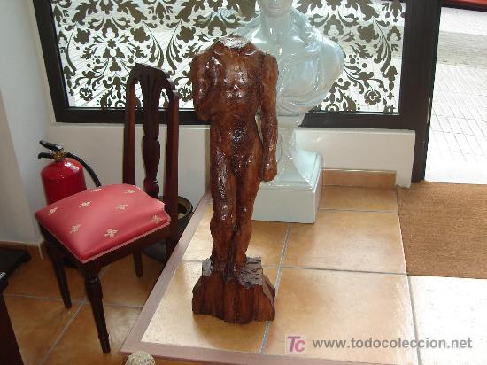ANTIGUA ESCULTURA TALLA DE MADERA (Arte - Escultura - Madera)