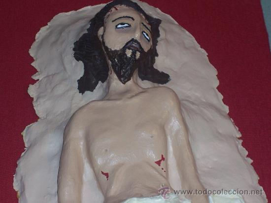 Arte: CRISTO YACENTE , REALIZADO A MANO EN ARCILLA ( PIEZA UNICA) - Foto 2 - 26135291