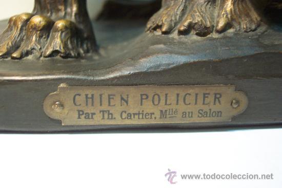 Arte: THOMAS CARTIER. PERRO POLICIA EN TERRACOTA - Foto 5 - 27514791
