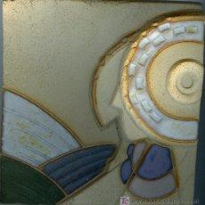Arte: RELIEVE EN BARRO ESMALTADO DAMA DE ELCHE. Lote 26587613