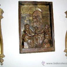 Arte: RELIEVE -ALTO- ESC CASTELLANA S-XVI 1ºTERCIO,TEA-NOGAL DORADO.LA VIRGEN, EL NIÑO Y STª ANA. Lote 26830236