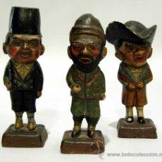 Arte: 3 CABEZUDOS ZARAGOZA EL PILAR VERRUGÓN FORANO ROBACULEROS EN TERRACOTA FELIZ OROZ 1860 S XIX. Lote 24267009