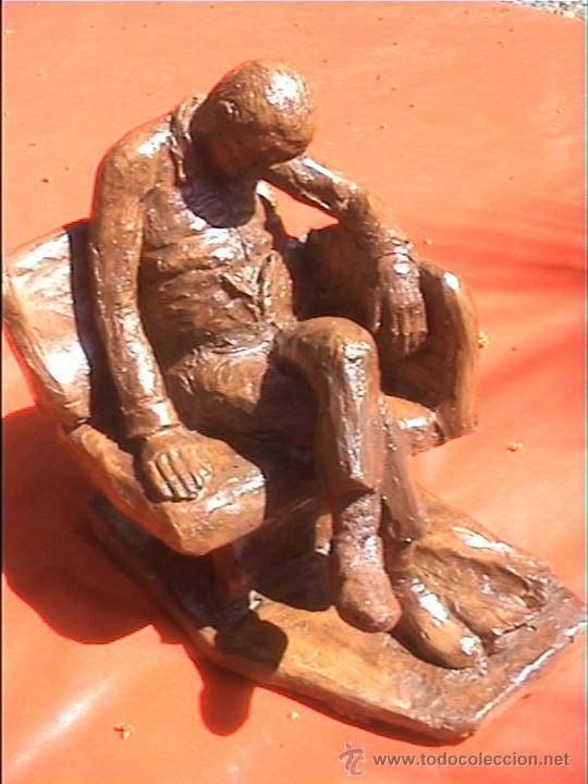 ESCULTURA TARRACOTA FIANLES SXIX VANCELLS TERRASSA (Arte - Escultura - Terracota )
