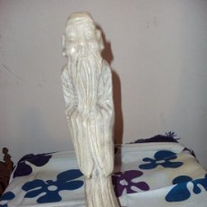 Arte - Escultura de Monje Chino - Lámpara en Alabastro - 27425948