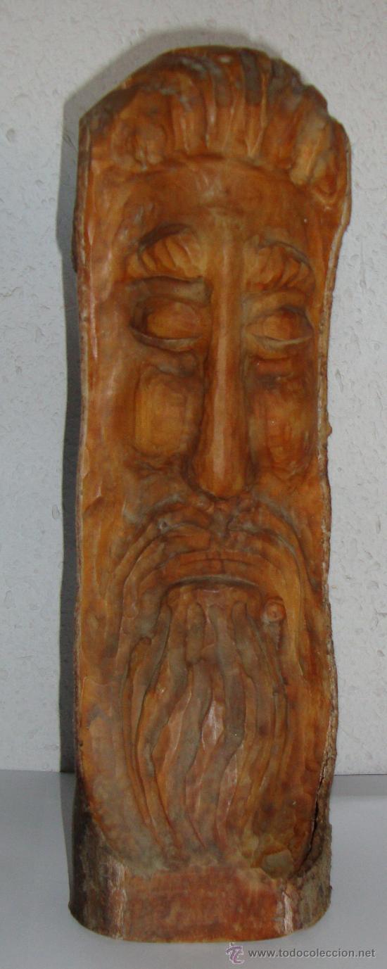 BONITA TALLA DE MADERA ROSTRO (Arte - Escultura - Madera)