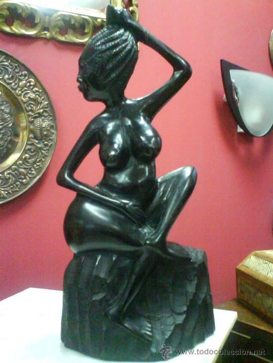 TALLA DE MADERA EBANO (Arte - Escultura - Madera)