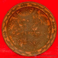 Arte: SAN JORDI Y EL DRAGÓN.GIGANTESCO PLATO EN TERRACOTA DE ÉPOCA NOUCENTISTA. GRAN TAMAÑO. Lote 25724930