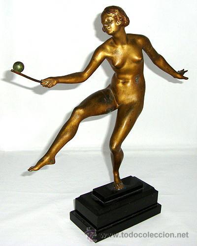 ART DECO BRONCE DE JOSEPH DESCOMPS (Arte - Escultura - Bronce)