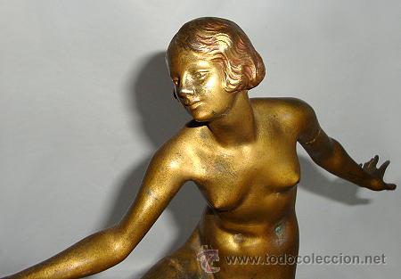 Arte: Art Deco Bronce de Joseph Descomps - Foto 5 - 26939818