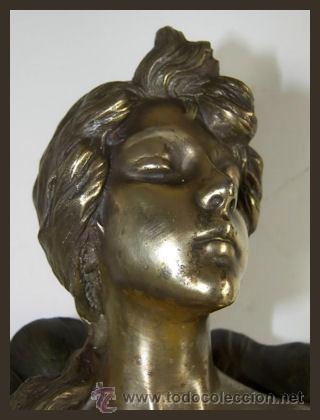 Arte: EMMANUEL VILLANIS Escultura ART NOUVEAU figura femenina modernista siglo XIX - Foto 7 - 26971123