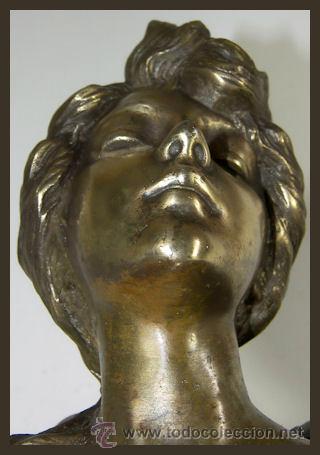 Arte: EMMANUEL VILLANIS Escultura ART NOUVEAU figura femenina modernista siglo XIX - Foto 14 - 26971123
