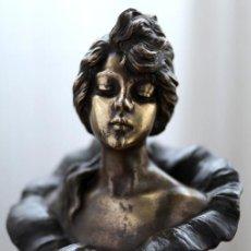 Arte: EMMANUEL VILLANIS ESCULTURA ART NOUVEAU FIGURA FEMENINA MODERNISTA SIGLO XIX. Lote 26971123