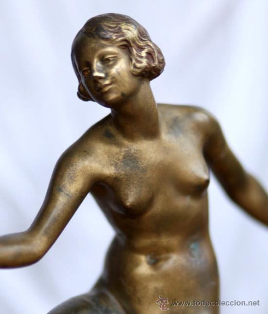 Arte: Art Deco Bronce de Joseph Descomps - Foto 8 - 26939818