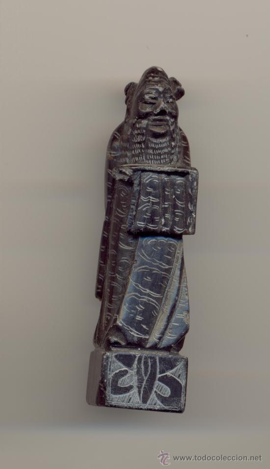 JAPÓN BONITO NETSUKE PIEDRA NEGRA PRINCIPIOS SIGLO XIX 7 CENTIMETROS DE ALTURA (Arte - Escultura - Piedra)