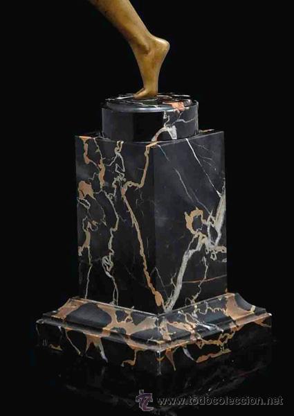 Arte: MARCEL-ANDRÉ BOURAINE (1886-1948) Danza Española Escultura Criselefantina bronce 1925 Art Deco 64 cm - Foto 3 - 27628815